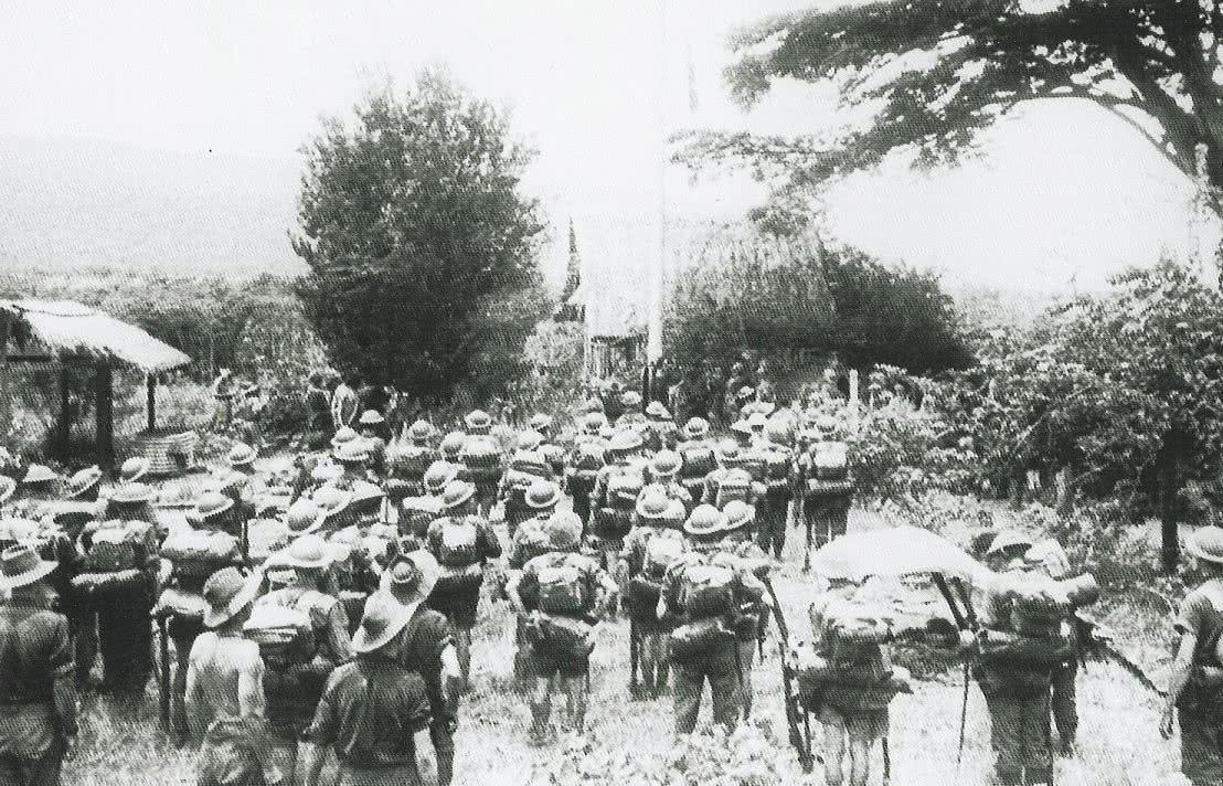 Raising of Australian Flag at Kokoda 3 November 19 42
