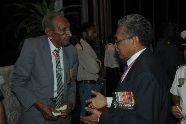 Sgt Ben Moide and Brigadier Ted Diro 2008 PNG Remembrance Day Service